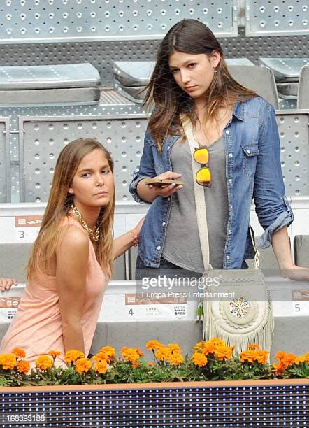 Natalia Sanchez and Ursula Corbero attend the Mutua Madrid Open tennis tournament at La Caja Magica on May 8 2013 in Madrid Spain