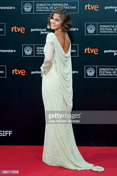 Natalia Sanchez attends the red carpet for the 63rd San Sebastian Film Festival Closing Ceremony at Kursaal on September 26 2015 in San Sebastian...