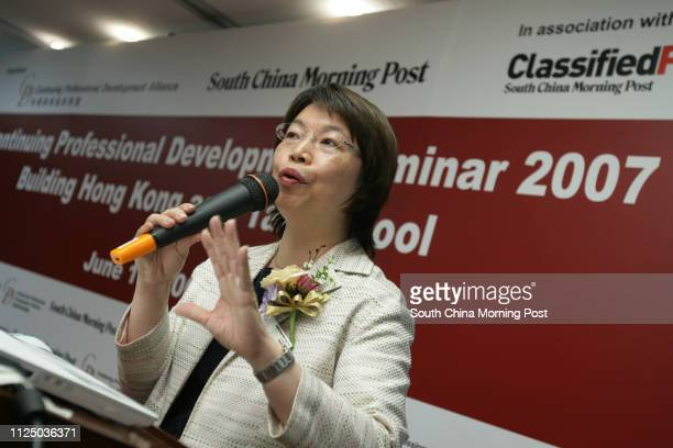 Natalia Seng President of Hong Kong Institute of Chartered Secretaries gives a speech on Why CDP form the Profession's PointofView on CPD...