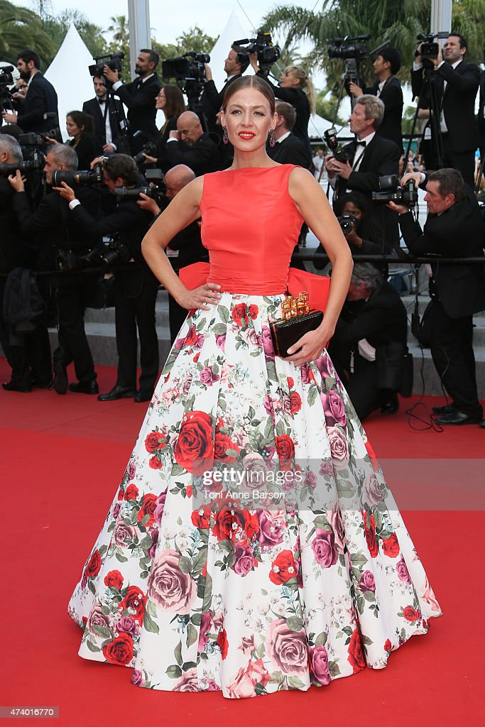 Natalia Shustova attends the 'Sicario' premiere during the 68th annual Cannes Film Festival on May 19, 2015 in Cannes, France.
