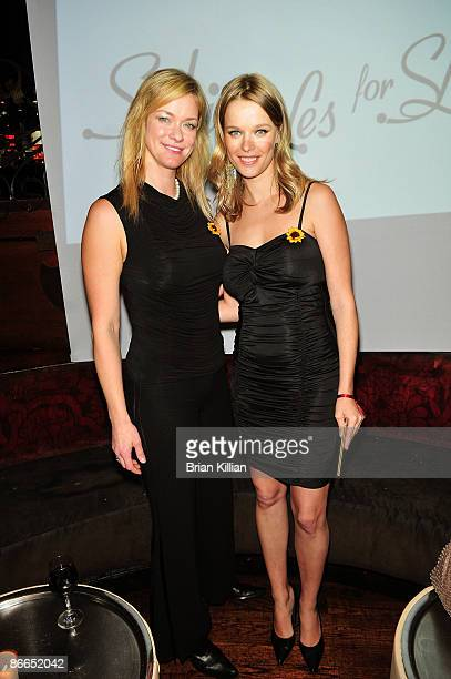 Natalia Sokolova and Helena Houdova attend Sunflower Children's Brazil charity event at Pink Elephant on May 7 2009 in New York City