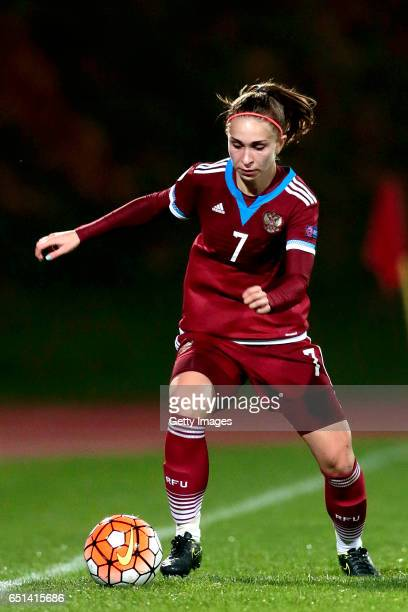 Natalia Sokolova of Russia during the Algarve Cup Tournament Match between Sweden W and Russia W on March 8 2017 in Albufeira Portugal