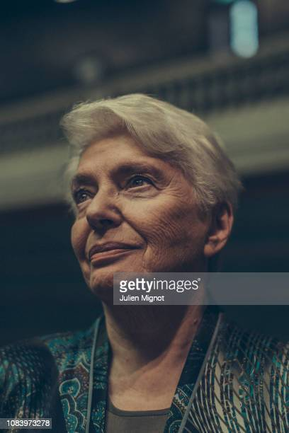 Natalia Soljenitsyne poses for a portrait on November 2018 in Paris France