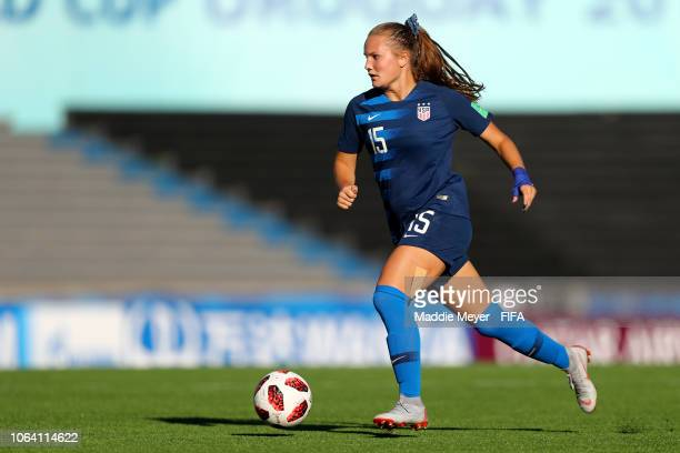 Natalia Staude of the United States in action during the FIFA U-17 Women's World Cup Uruguay 2018 group C match between Germany and USA at Estadio...