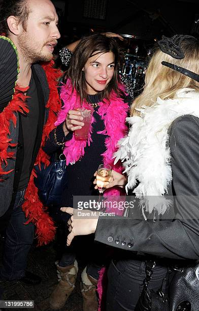 Natalia Tena attends the Alice Olivia Black Tie Carnival hosted by designer Stacey Bendet at Paradise by Way of Kensal Green on November 9 2011 in...
