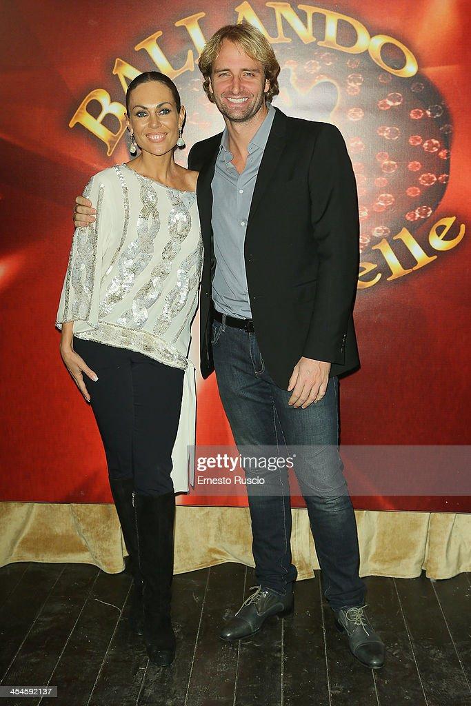 Natalia Titova and Massimiliano Rosolino attend the 'Ballando con le stelle' 100th Episode Party at La Villa on December 9, 2013 in Rome, Italy.