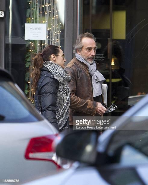 Natalia Verbeke and Gonzalo de Castro are seen on December 18 2012 in Madrid Spain