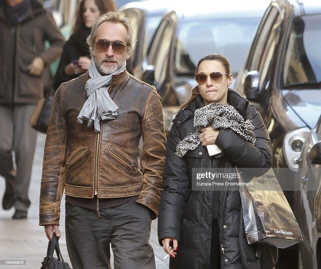 Natalia Verbeke and Gonzalo de Castro are seen on December 18, 2012 in Madrid, Spain.