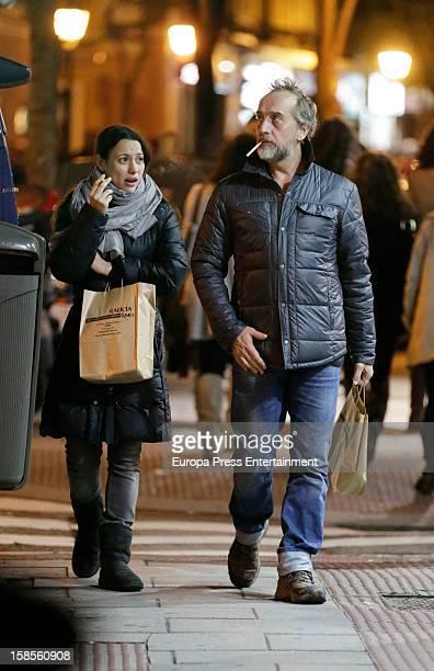 Natalia Verbeke and Gonzalo de Castro are seen on November 17 2012 in Madrid Spain
