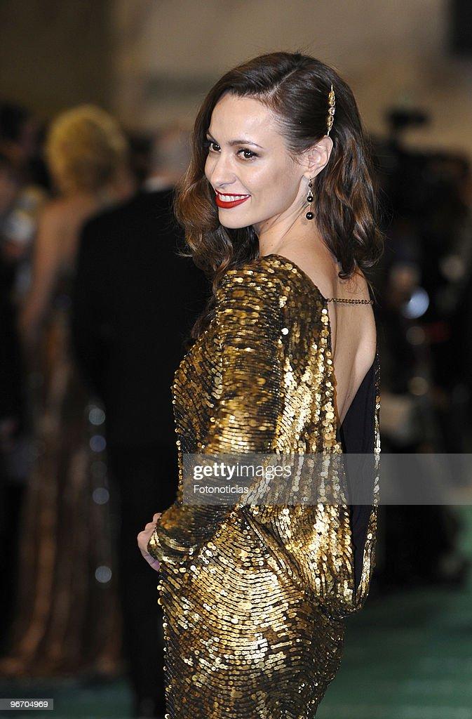 Natalia Verbeke arrives to the 2010 edition of the 'Goya Cinema Awards' ceremony at the Palacio de Congresos on February 14, 2010 in Madrid, Spain.