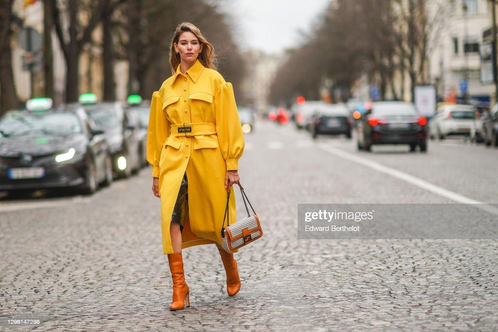Fashion Photo Session In Paris - January 2021 : News Photo
