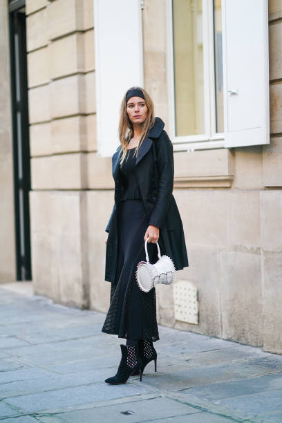 FRA: Street Style - Paris Fashion Week - Haute Couture Spring/Summer 2021