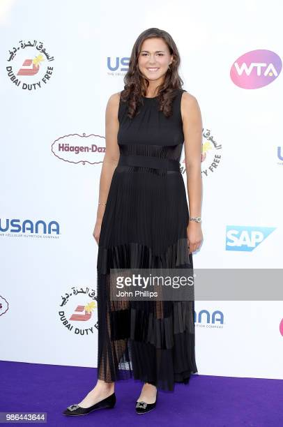 Natalia Vikhlyantseva attends the Women's Tennis Association Tennis on The Thames evening reception at OXO2 on June 28, 2018 in London, England. The...