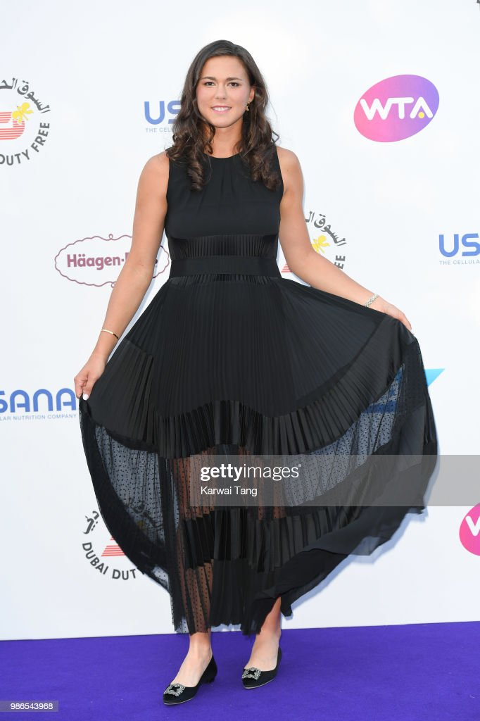 Natalia Vikhlyantseva attends the WTA's 'Tennis On The Thames' evening reception at Bernie Spain Gardens South Bank on June 28, 2018 in London, England.