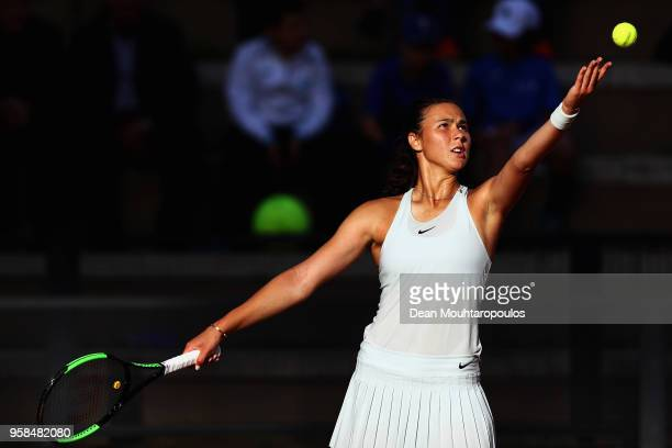 Natalia Vikhlyantseva of Russia serves in her match against Daria Gavrilova of Australia during day two of the Internazionali BNL d'Italia 2018...