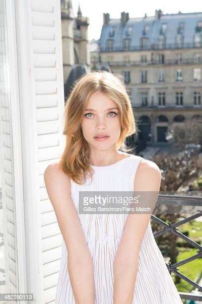 Natalia Vodianova 7 months pregnant is photographed for Paris Match at her home on March 05 2014 in Paris France
