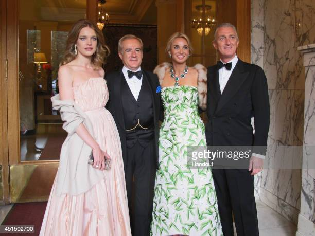 Natalia Vodianova, Allen Sangines-Krause, Corinna zu Sayn-Wittgenstein and Prince Paolo Borghese attend the White Nights Festival on June 21, 2014 in...