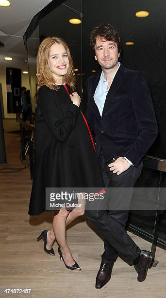 Natalia Vodianova and Antoine Arnault are seen backstage prior to the ETAM show as part of the Paris Fashion Week Womenswear Fall/Winter 20142015 on...