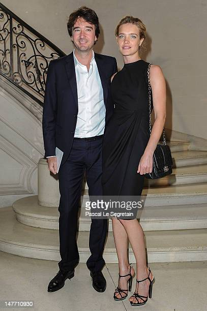 Natalia Vodianova and Antoine Arnault arrive at the Christian Dior HauteCouture show as part of Paris Fashion Week Fall / Winter 2013 on July 2 2012...
