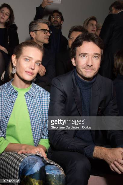 Natalia Vodianova and Antoine Arnault attend the Berluti Menswear Fall/Winter 20182019 show as part of Paris Fashion Wee January 19 2018 in Paris...