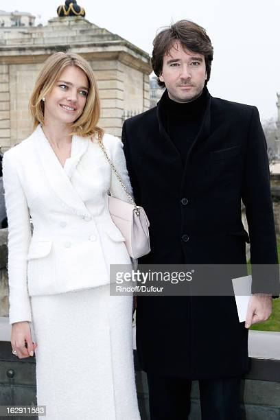 Natalia Vodianova and Antoine Arnault attend the Christian Dior Fall/Winter 2013 ReadytoWear show as part of Paris Fashion Week on March 1 2013 in...