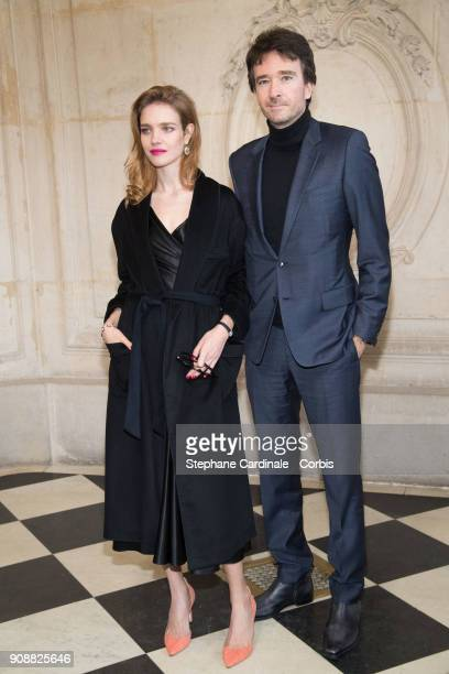 Natalia Vodianova and Antoine Arnault attend the Christian Dior Haute Couture Spring Summer 2018 show as part of Paris Fashion Week January 22 2018...