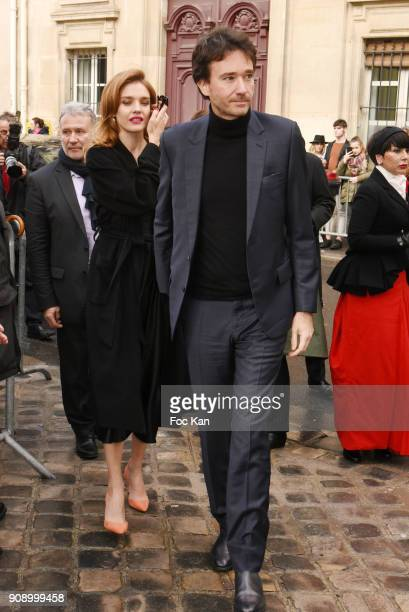 Natalia Vodianova and Antoine Arnault attend the Christian Dior Haute Couture Spring Summer 2018 show as part of Paris Fashion Week on January 22...