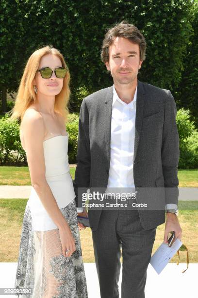 Natalia Vodianova and Antoine Arnault attend the Christian Dior Haute Couture Fall/Winter 20182019 show as part of Haute Couture Paris Fashion Week...