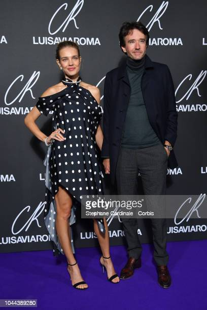 Natalia Vodianova and Antoine Arnault attend the CR Fashion Book x LuisaViaRoma Photocall as part of the Paris Fashion Week Womenswear Spring/Summer...