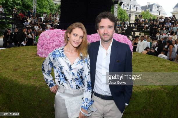 Natalia Vodianova and Antoine Arnault attend the Dior Homme Menswear Spring/Summer 2019 show as part of Paris Fashion Week on June 23 2018 in Paris...