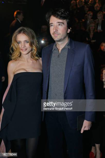 Natalia Vodianova and Antoine Arnault attend the Etam Live Show Lingerie at Bourse du Commerce on February 26 2013 in Paris France