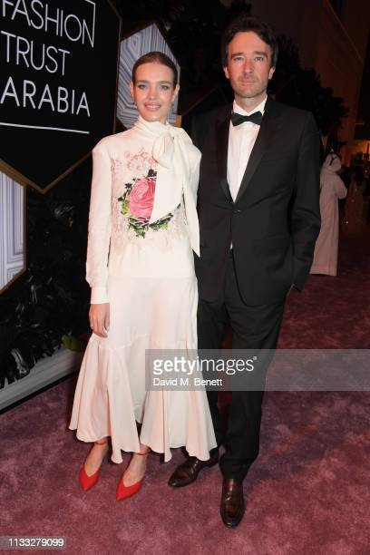 Natalia Vodianova and Antoine Arnault attend the Fashion Trust Arabia Prize awards ceremony on March 28 2019 in Doha Qatar