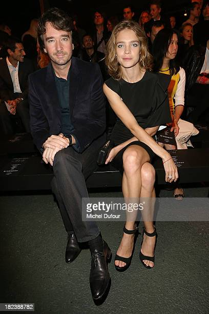Natalia Vodianova and Antoine Arnault attend the Givenchy show as part of the Paris Fashion Week Womenswear Spring/Summer 2014 on September 29 2013...