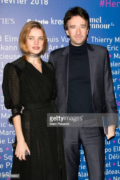 Natalia Vodianova and Antoine Arnault attend the 'Heroes for Imagine' host by Kamel Mennour benefit auction at L'Institut Imagine on February 12 2018...