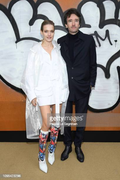 Natalia Vodianova and Antoine Arnault attend the Louis Vuitton Menswear Fall/Winter 2019-2020 show as part of Paris Fashion Week on January 17, 2019...