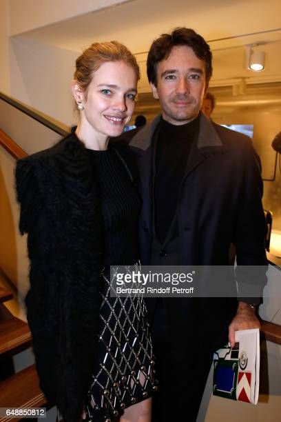 Natalia Vodianova and Antoine Arnault attend the Opening of the Boutique Rimowa 73 Rue du Faubourg Saint Honore in Paris on March 6 2017 in Paris...