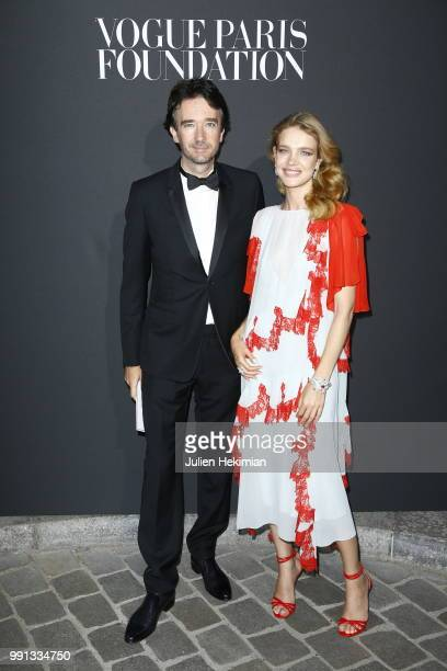 Natalia Vodianova and Antoine Arnault attend Vogue Foundation Dinner Photocall as part of Paris Fashion Week Haute Couture Fall/Winter 20182019 at...