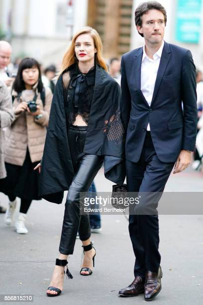 Natalia Vodianova and Antoine Arnault outside Shiatzy Chen during Paris Fashion Week Womenswear Spring/Summer 2018 on October 2 2017 in Paris France