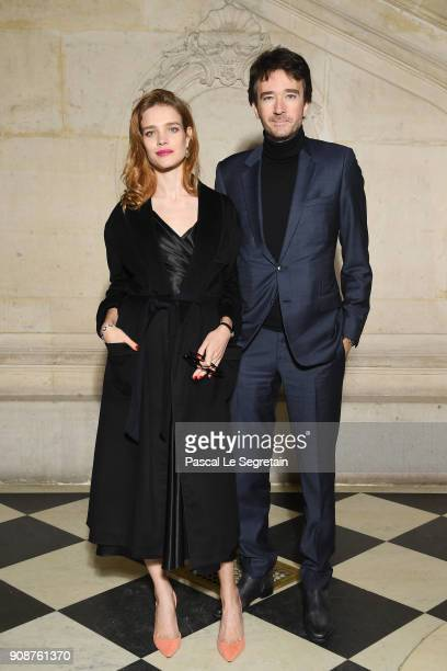 Natalia Vodianova and Bernard Arnault attend the Christian Dior Haute Couture Spring Summer 2018 show as part of Paris Fashion Week on January 22...