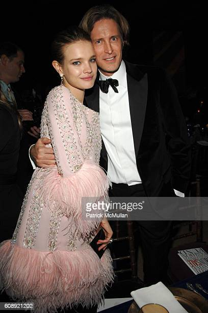 Natalia Vodianova and Bruce Hoeksema attend CFDA/Vogue 7th ON SALE 2007 Gala at 69th Regiment Armory on November 15 2007 in New York City