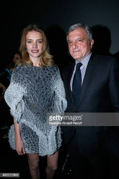 Natalia Vodianova and CEO Dior Sidney Toledano attend the Berluti Menswear Fall/Winter 20172018 show as part of Paris Fashion Week on January 20 2017...