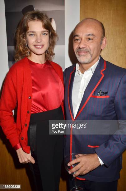 Natalia Vodianova and Christian Louboutin attend the Christian Louboutin 20th Anniversary Book Launch at Christian Louboutin - Galerie Vero-Dodat at...
