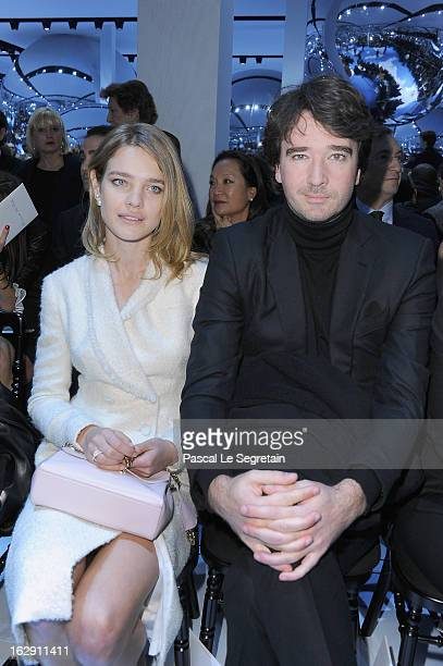 Natalia Vodianova and companion Antoine Arnault attend the Christian Dior Fall/Winter 2013 ReadytoWear show as part of Paris Fashion Week on March 1...