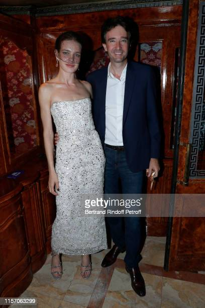 Natalia Vodianova and CoOwner of Laperouse Antoine Arnault attend the Laperouse Mask Ball on the occasion of the inauguration evening of the...