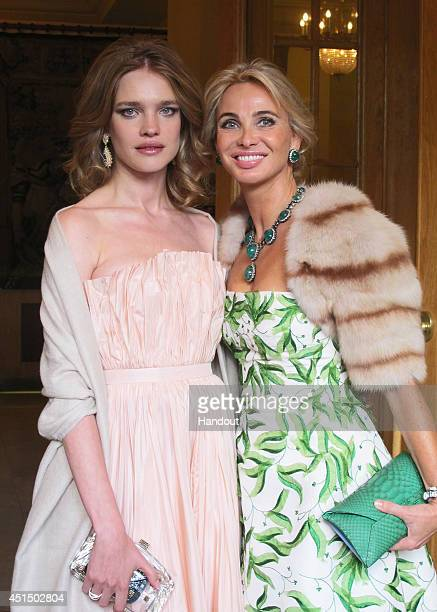 Natalia Vodianova and Corinna zu SaynWittgenstein attend the White Nights Festival on June 21 2014 in St Petersburg Russia The White Nights Festival...