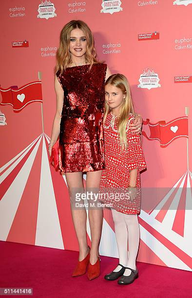 Natalia Vodianova and daughter Neva Portman at The Naked Heart Foundation's Fabulous Fund Fair in London at Old Billingsgate Market on February 20...