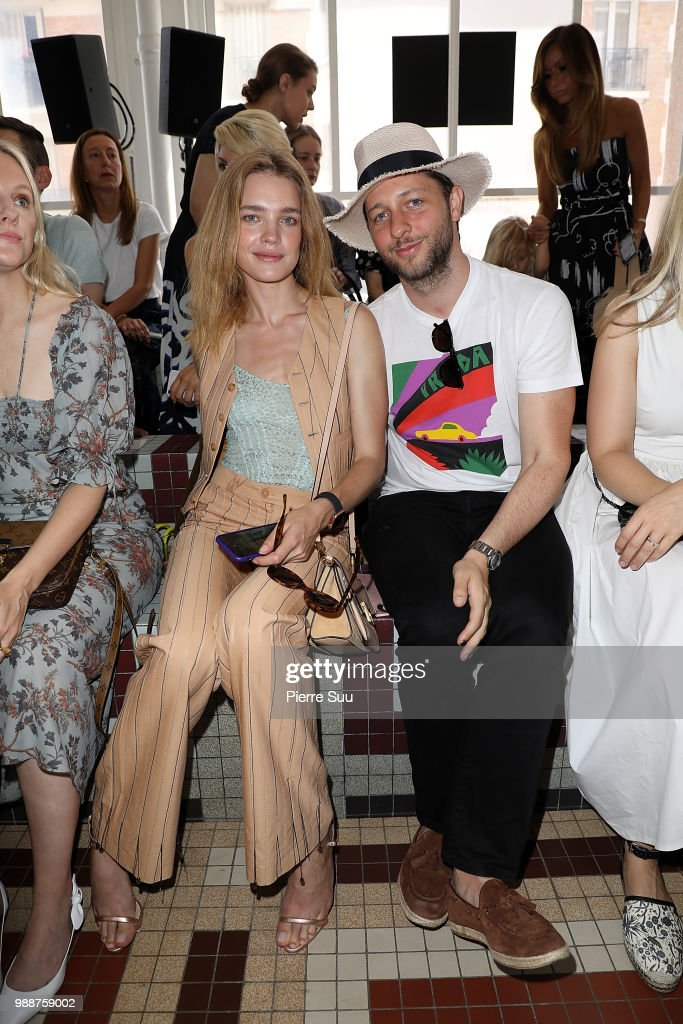 Natalia Vodianova and Derek Blasberg attend the Acne Studios