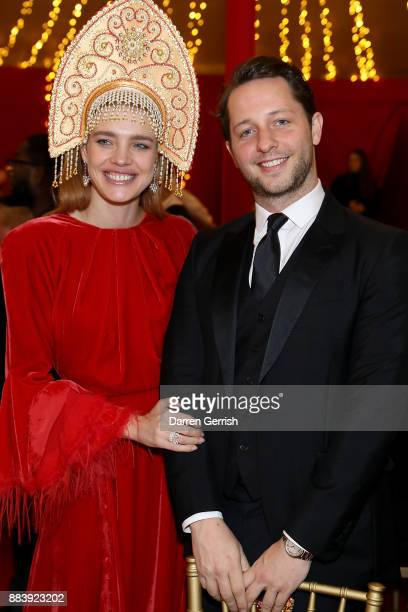 Natalia Vodianova and Derek Blasberg attend the gala dinner during #BoFVOICES on December 1 2017 in Oxfordshire England