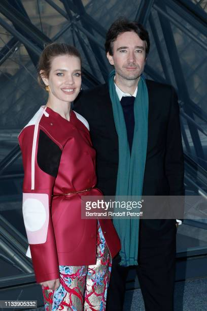 Natalia Vodianova and General manager of Berluti Antoine Arnault attend the Louis Vuitton show as part of the Paris Fashion Week Womenswear...
