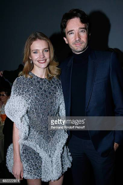 Natalia Vodianova and General manager of Berluti Antoine Arnault attend the Berluti Menswear Fall/Winter 20172018 show as part of Paris Fashion Week...